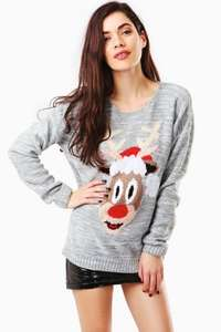 A knitted jumper with a reindeer wearing a Christmas hat! @ fashion union £15 was £20 with £1.95 standard delivery