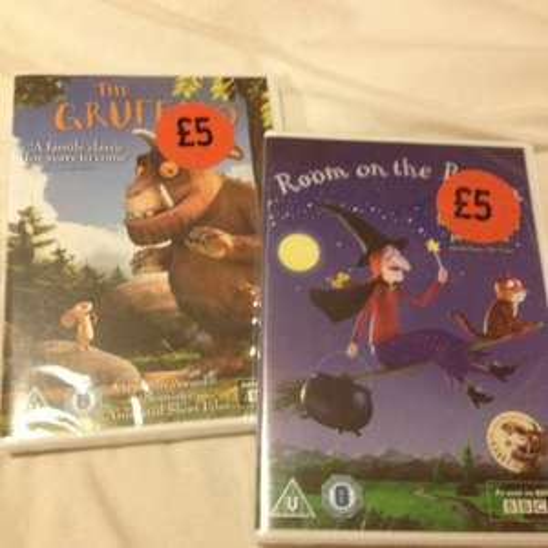 Gruffalo and room in broom DVD £5 each sainsbury