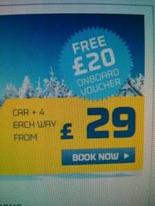 Dover to Calais/Dunkirk return crossing with free £20 to spend - £58 @ DFDS
