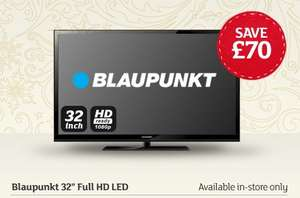Blaupunkt 32'' Full HD LED TV £129.99 in store only @ sainsburys