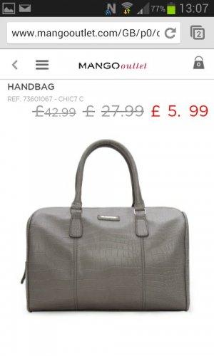 Mango Handbag!! Croc effect bowling bag  £5.99 @ mangooutlet