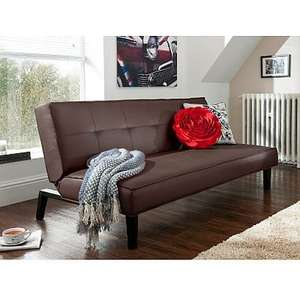 Twickenham Sofabed in Brown or red was £145 now £99 @ Asda £8.95 delivery