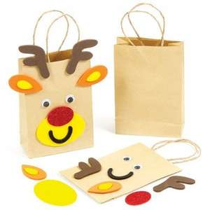 Reindeer Gift Bags Craft Kits - for kids (pack of four) £3.50 @ yellow moon £2.99 Delivery