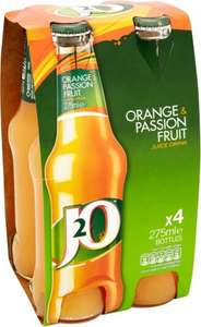 J2O Orange & Passion / Apple & Mango / Apple & Raspberry / Limited Edition Fruit Juice Drink, 4 x 275ml or 6 x 250ml £2 @ Asda