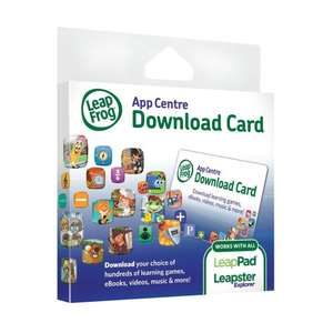 LeapFrog Explorer App Centre Download Card (for LeapPad and Leapster) £15 card for £7.50 @ Amazon