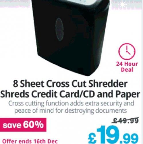Cross Cut Paper / CD / Credit Card Shredder £19.99 @ Maplin