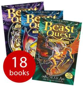 Beast Quest Collection series 7-9 - 18 Books £15.29 (using codes WINTER and JINGLE) @ The Book People