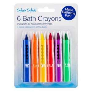 Baby Bath Crayons, Washable 6 Pack £1 @ Poundland