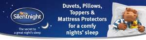 Silent night quilted mattress topper and pillow set from £14.99 @ argos now available for reserve and collect