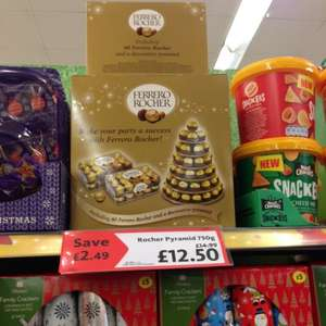 Ferrero Rocher (60 pieces) pyramid only £12.50 @ Morrisons