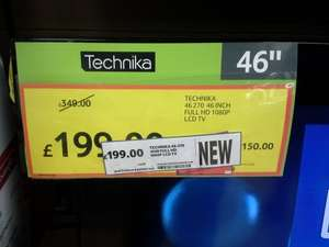 Technika 46 Inch Full HD 1080p LCD TV With Freeview £199 at Tesco instore (£299 online)