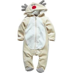 Reindeer Unisex Brown All in One - 0-3, 3-6, 6-9 months HALF PRICE £5.99 @ ARGOS