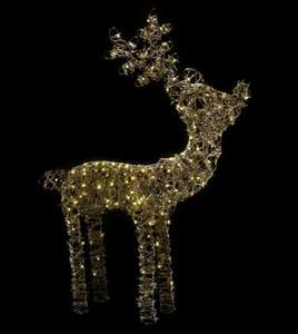 LED Rattan-Effect Freestanding REINDEER! Light £12.75 @ B&Q + upto 4.2% at TCB