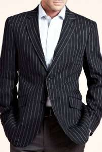 Collezione Pure Linen Bold Slim Fit Striped Jacket WAS £99 NOW £18.69 + Free Delivery @ Marks & Spencer