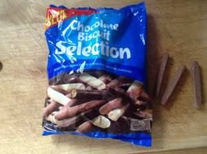 Cadburys / mixed broken chocolate fingers 350g 99p @ Heron