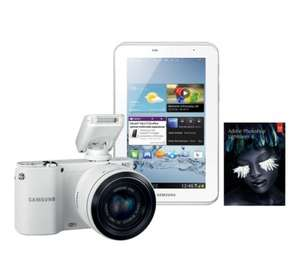 "SAMSUNG NX1100 Smart Compact Camera with Galaxy 2 7"" Tablet & Adobe Lightroom 4@ Currys_Pcworld"