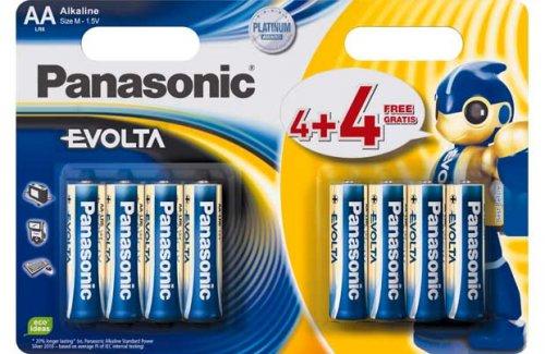 Panasonic Evolta AA and AAA Batteries £1.99 for 8 @ Ebay/Argos