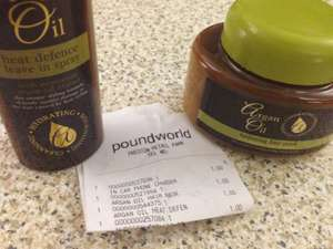 £1 Argan Oil products @ Poundworld