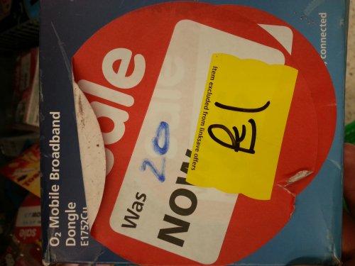 O2 mobile broadband dongle £1 in store @ Asda