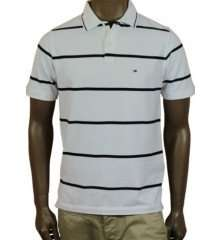 Tommy Hilfiger Mens Slim Fit Washed Basic Polo Shirt White