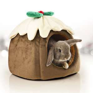 Christmas Pudding Rabbit and Guinea Pig Bed by Pets at Home - 49p