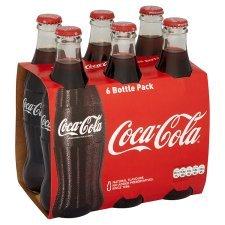 Glass Coke Bottles in B&M Bargain - Pack of 6 for £2.99