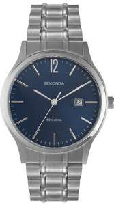 Sekonda Men's Watch with Blue Dial and Silver Stainless Steel Bracelet £15 Delivered @ Amazon