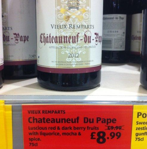 Chateauneuf du pape £8.99 @ ALDI