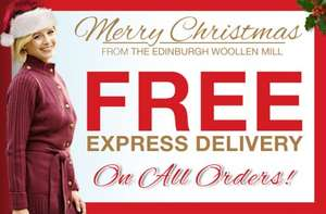 Free Express Delivery on all orders until 20 Dec 2013 at Edinburgh Woollen Mill