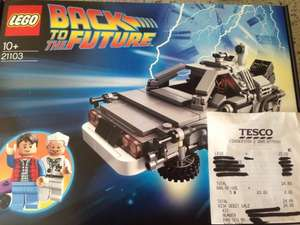 Back to the Future LEGO 21103 £15 instore Tesco