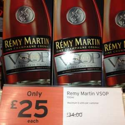 Remy Martin vsop Cognac 70cl £25 instore @ Sainsburys