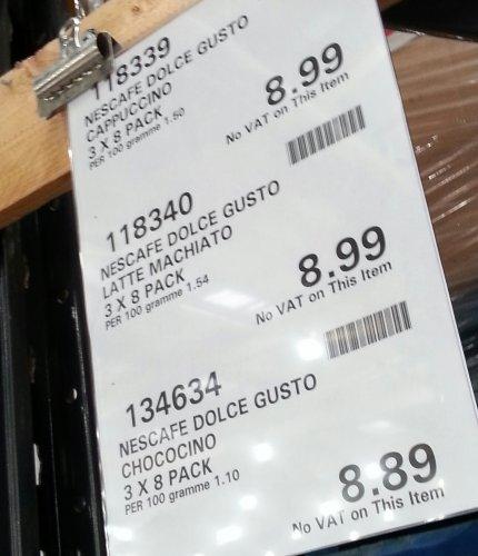 NESCAFÉ®Dolce Gusto® 3x8's £8.99 @Costco