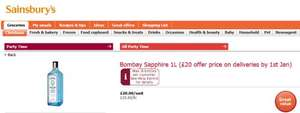 Sainsburys Bombay Sapphire 1L (£20 offer price on deliveries by 1st Jan)
