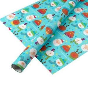 10 metre Christmas Wrapping Paper in Poundland Scanning at 3 for