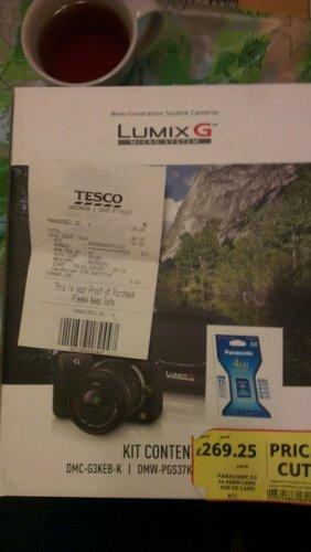 Panasonic Lumix G3 kit £30 instore @ tesco (+ possible £50 Cashback)