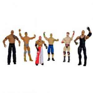 6 wrestling figures reduced from £59.99 to £24.99 @ Smyths Toys