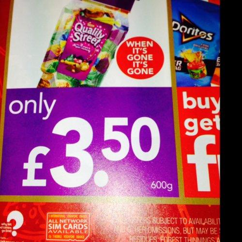 Quality street 600g tub £3.50 @ premier stores