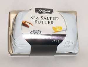 Deluxe Sea Salted Butter 250 grams 99p at Lidl (1/3 off)