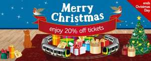 Online 20% discount - London Midland - Book By 25th Dec To Travel By 14 Feb 2014 !