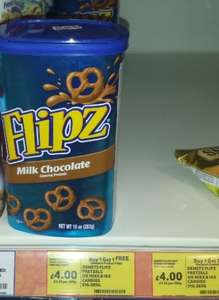 Large Box of Flipz imported American Chocolate Pretzels £4 BOGOF @ Tesco