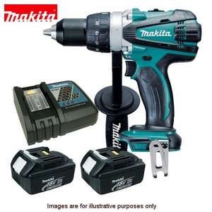 Makita BHP458RFE High Torque (88Nm) 18V, 2 x 3Ah Li-Ion Batts, charger, toolbag, UKTOOLMART via Amazon, £179.00