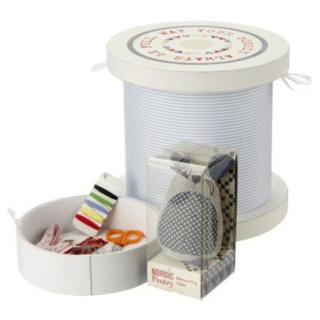 "Sainsbury's (INSTORE) ""Nordic Pantry"" Bobbin Sewing Box Gift Set £5.33"