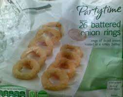 Lidl 26 Battered Onion rings 69p each buy one get one free @ Lidl