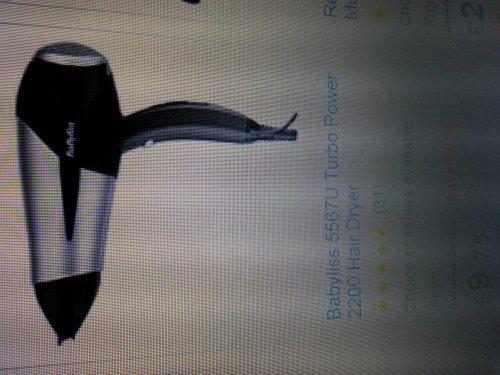 Babyliss 2200 hair dryer £9.75 instore @ Tesco
