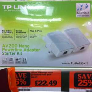 TP-LINK AV200 power line adapter kit £22.49 at sainsburys