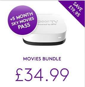 NOW TV Box + 5 months Sky Movies Month Pass £34.99 @ Now TV