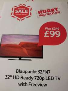 "Blaupunkt 32"" HD Ready LED TV £249 down to £99 at Tesco!"