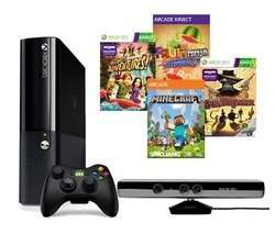 Xbox 360 with Wireless Controller, Kinect & 4-Game Bundle - 250 GB@pc world business