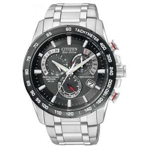 Citizen Perpetual Chrono AT4008-51E AT Chronograph with Stainless Steel Strap