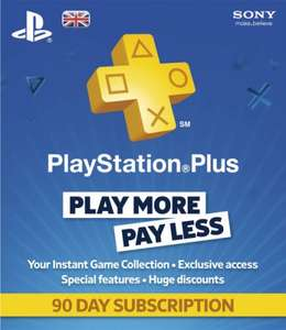 PlayStation Plus 90 Day Subscription £6.99 (using code) @ Sainsbury's Entertainment
